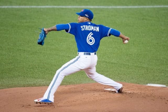 Marcus Stroman, des Blue Jays de Toronto, est... (La Presse Canadienne, Darren Calabrese)