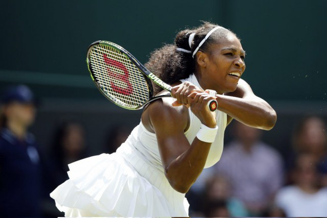 Serena Williams... (PHOTO ALASTAIR GRANT, AP)