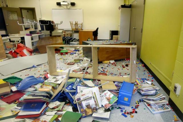 L'école Louis-Dupire, dans l'est de Montréal, a été... (PHOTO ROBERT SKINNER, LA PRESSE)