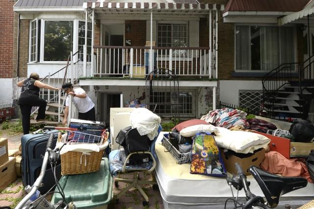 La traditionnelle période des déménagements a été éprouvante... (La Presse Canadienne)
