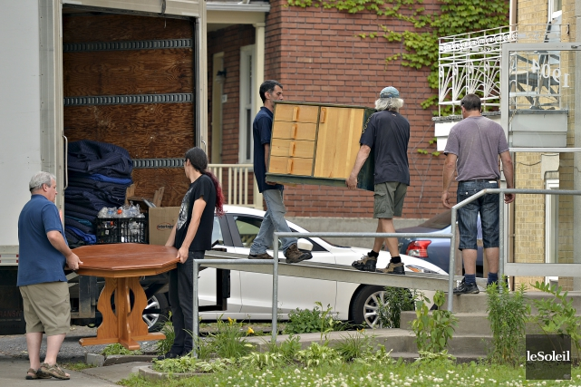 La traditionnelle période des déménagements a été éprouvante... (Le Soleil, Pascal Ratthé)