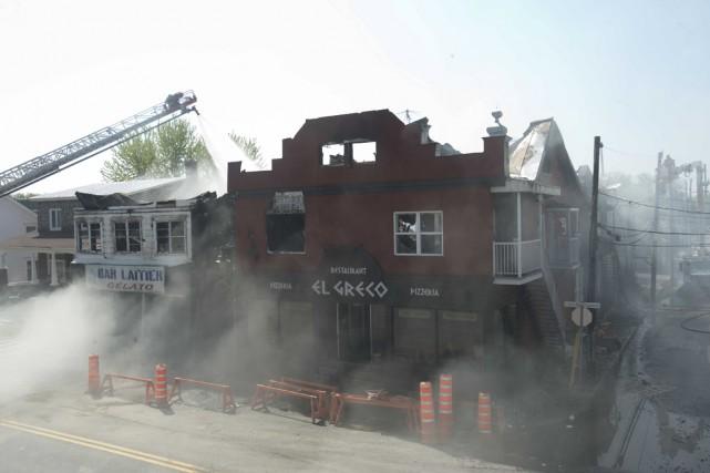 Un incendie a détruit le restaurant El Greco... (Sylvain Mayer)