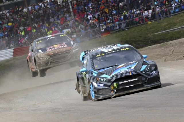 Même si le légendaire Sébastien Loeb le suivait... (Championnat du monde de rallycross)