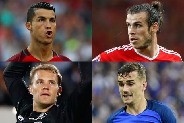 Quatre joueurs vedettes qui participeront aux demi-finales de... (Photos Reuters et AFP)