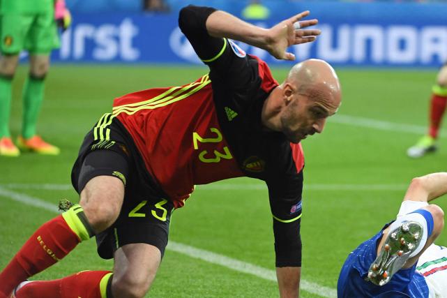 Laurent Ciman a participé à l'Euro 2016 avec... (Photo Emmanuel Dunand, AFP)