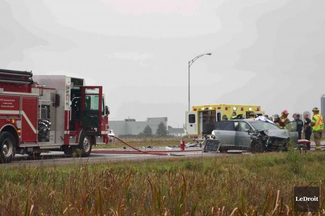 La conductrice qui a tenté de s'enlever la vie en filant sur l'autoroute 50 à... (Archives, LeDroit)