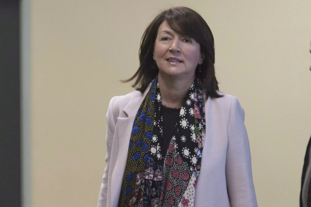Nathalie Normandeauau palais de justice de Québec, le... (La Presse Canadienne, Jacques Boissinot)