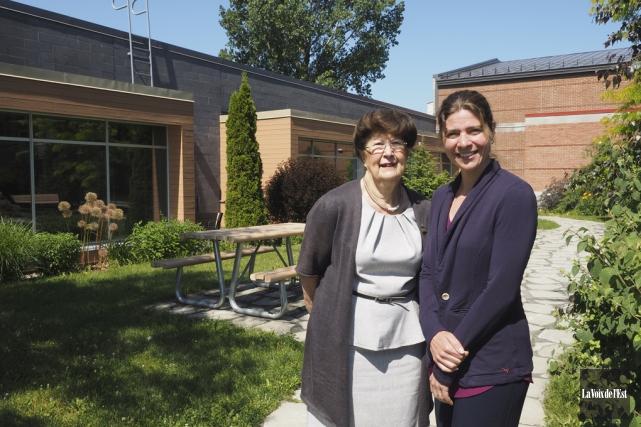 La mairesse de Bromont, Pauline Quinlan, et la... (Alain Dion, La Voix de l'Est)