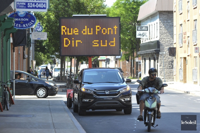 C'est le tronçon de la rue du Pont... (Photothèque Le Soleil, Alice Chiche)