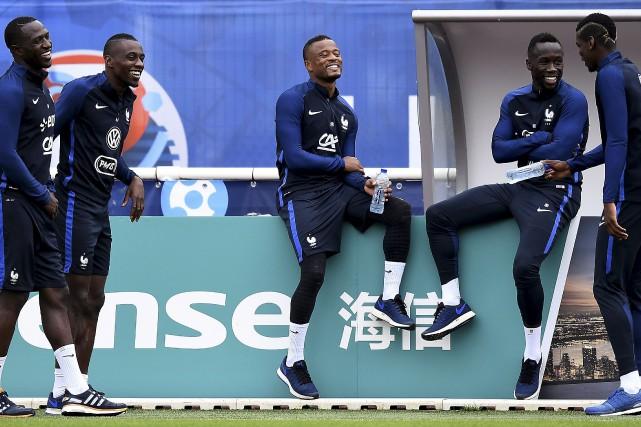 Moussa Sissoko, Blaise Matuidi, Patrice Evra, Bacary Sagna... (Franck Fife, AFP)