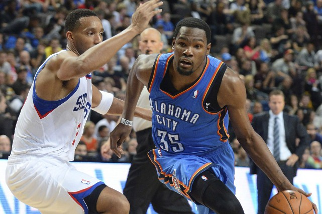 Kevin Durant a tranché. Il quitte le Thunder... (AFP, Andrew Yates)