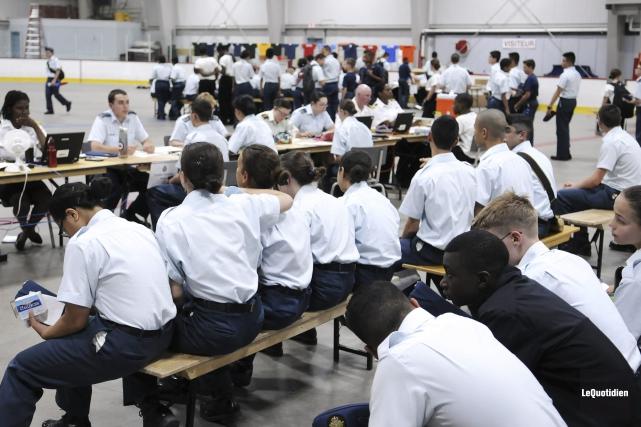 Plus de 750 cadets ont débarqué à Bagotville,... (Photo Le Quotidien, Mariane L. St-Gelais)