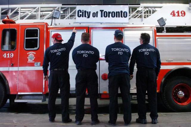 En janvier2008, des pompiers avaient inscrit «City of... (PHOTO ARCHIVES LA PRESSE)