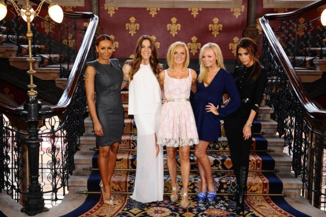 Les Spice Girls Mel B, Mel C, Geri,... (photo  Ian West, archives associated press)