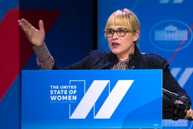 L'actrice Patricia Arquette a pris la parole lors... (photo Cliff Owen, archives associated press)