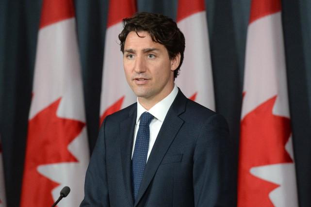 Le premier ministre du Canada, Justin Trudeau... (Photo Adrian Wyld, La Presse Canadienne)