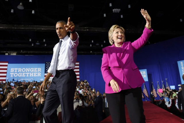 «Je crois en Hillary Clinton», a lancé M. Obama... (PHOTO Susan Walsh, AP)