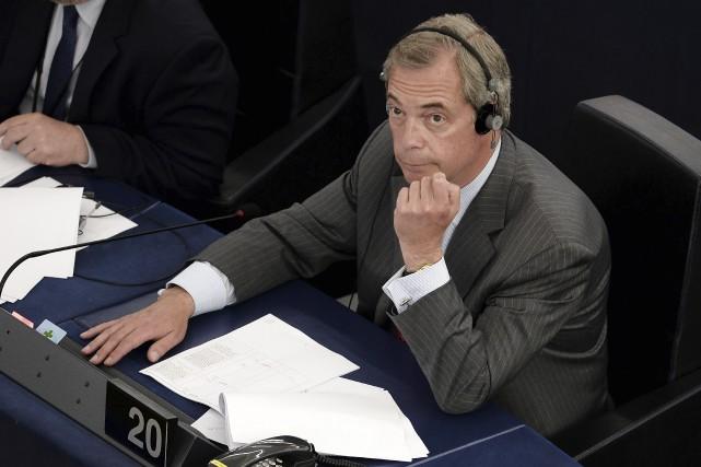 Nigel Farage a été la figure dominante qui... (AFP, Frederick Florin)