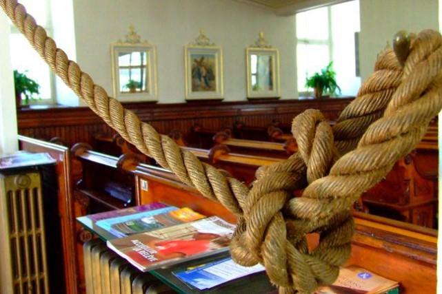 L'intérieur de l'église Saint-Étienne de Beaumont... (Tirée du www.fabriquedebeaumont.org)