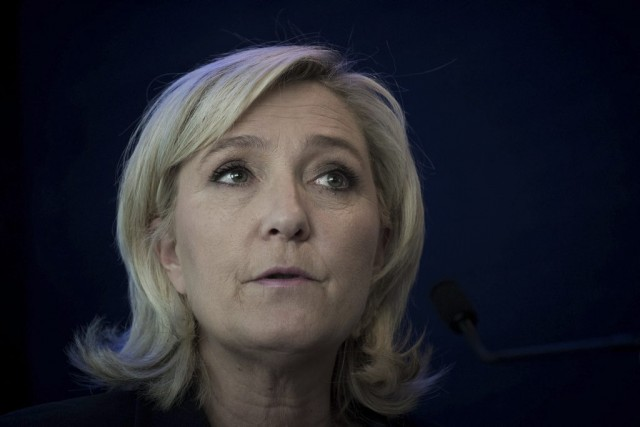 Selon Marine Le Pen,le milliardaire américain «ne mérite... (Archives, Agence-France Presse)