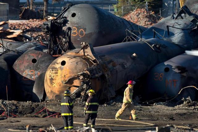 La tragédie ferroviaire qui a ravagé le centre-ville... (Archives La Presse, Robert Skinner)
