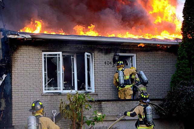 Les pompiers ont dû retourner pour une troisième fois en quelques semaines pour... (Photo collaboration spéciale Éric Beaupré)