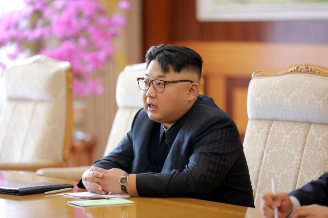 Pour la première fois, Kim Jong-un est placé... (PHOTO ARCHIVES REUTERS/KCNA)
