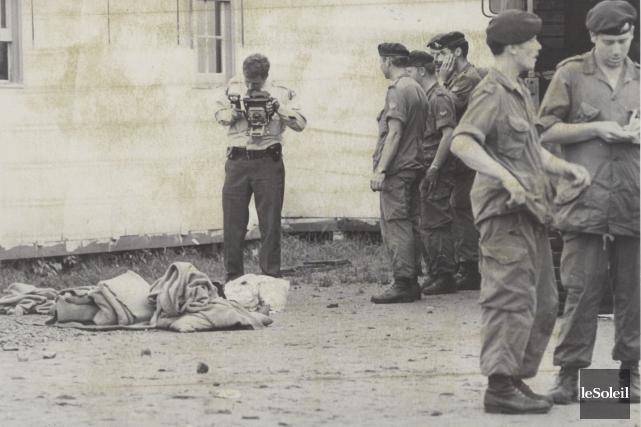 L'explosion d'une grenade le 30 juillet 1974 à... (Archives Le Soleil)