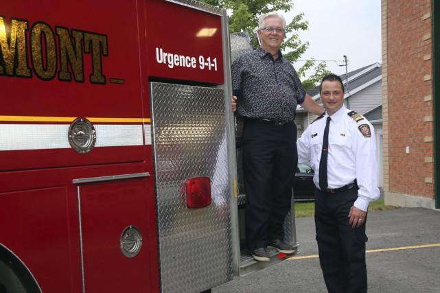 Leservice incendie de Rougemont a mis en service,... (Christophe Boisseau-Dion)