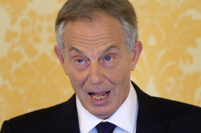Tony Blair... (PHOTO STEFAN ROUSSEAU, AFP)