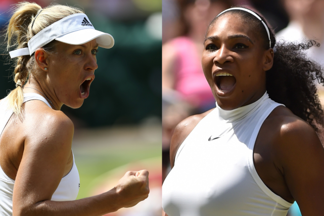 Angelique Kerber et Serena Williams s'affronteront en finale... (Photos AFP)