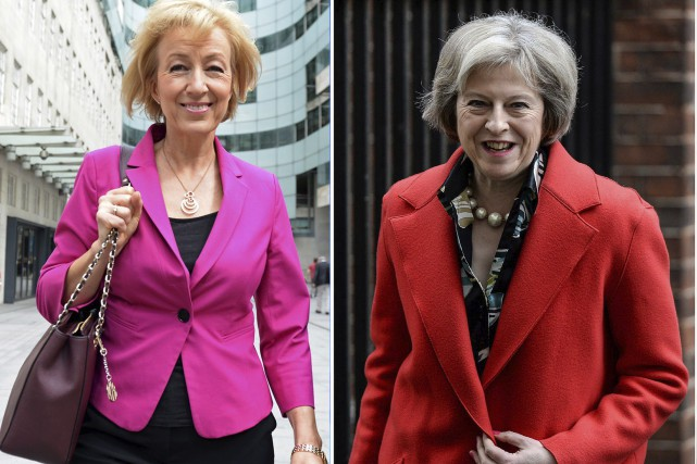 Andrea Leadsom et Theresa May s'affronteront pour la... (Agence France-Presse)