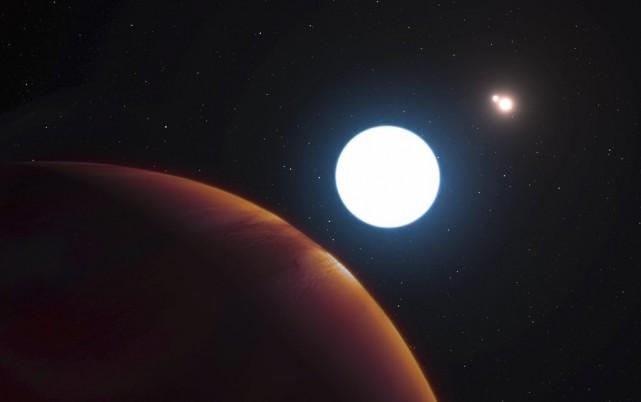 Image dela planète baptisée HD 131399Ab.... (PHOTO L. Cal√ßada/ESO via AP)