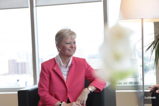 L'ambassadeur de l'UE au Canada, Marie-Anne Coninsx, dans... (Etienne Ranger, LeDroit)