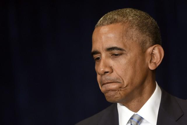 Les États-Unis ont vécu «trop de fois des... (Photo Susan Walsh, AP)