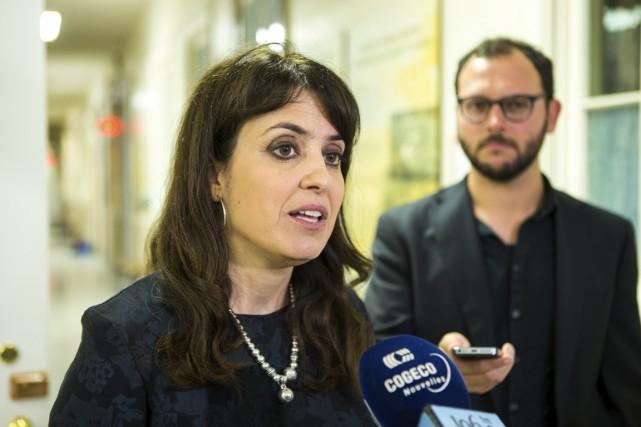 La candidate à la chefferie du Parti québécois,... (Olivier Croteau)