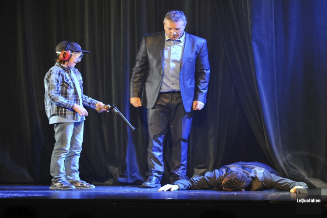 Nathan, 9 ans, a eu la chance de... (Photo Le Quotidien, Rocket Lavoie)