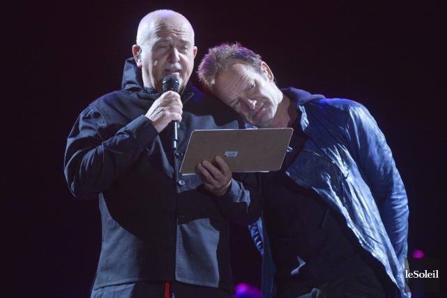 Sting et Peter Gabriel ont présenté un spectacle... (Le Soleil, Jean-Marie Villeneuve)