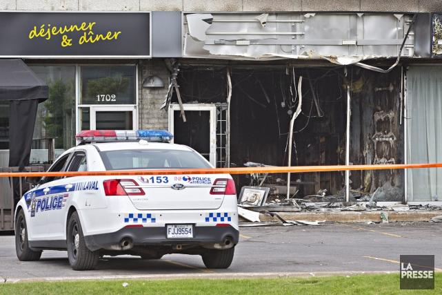 Un établissement commercial de Laval a été la cible d'un incendie criminel qui... (PHOTO PATRICK SANFACON, LA PRESSE)