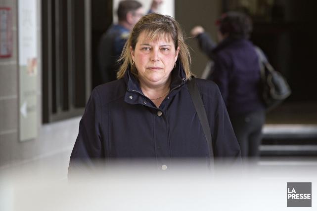 France Michaud avait été condamnée, mercredi au palais... (Photo Patrick Sanfaçon, La Presse)