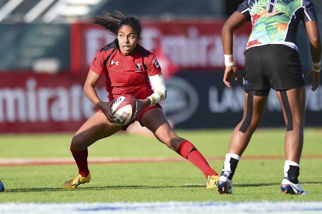Blessée ces derniers mois, Magali Harvey a été... (Fournie par Rugby Canada)