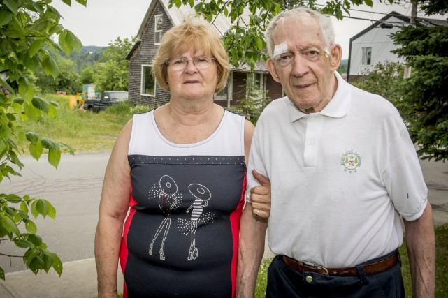 Anita Plante Bilodeau et son époux Wellie, atteint... (Spectre Média, André Vuillemin)
