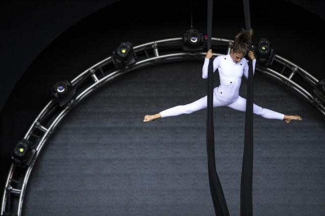 Le Cirque du Soleil en répétition à l'Amphithéâtre... (Olivier Croteau)