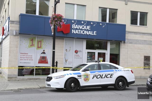 La Banque Nationale située au centre-ville de Granby... (Janick Marois, La Voix de l'Est)