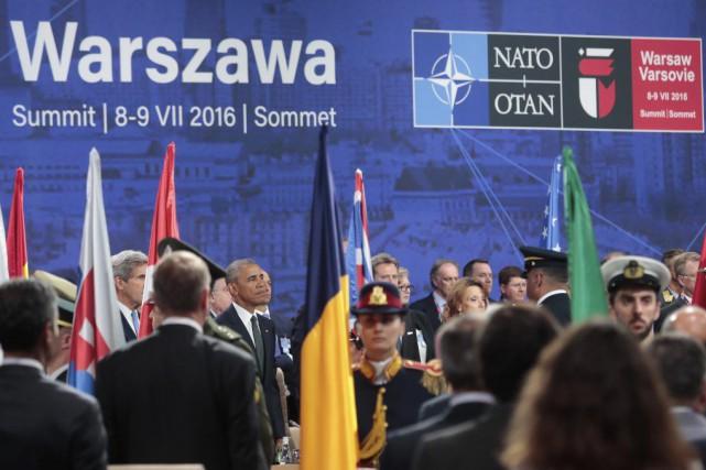 Les 28chefs d'État et de gouvernement de l'OTAN... (PHOTO MARKUS SCHREIBER, AP)
