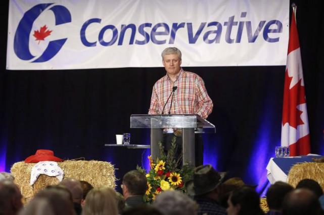 Stephen Harper a profité d'un événement du Parti... (La Presse Canadienne, Jeff McIntosh)