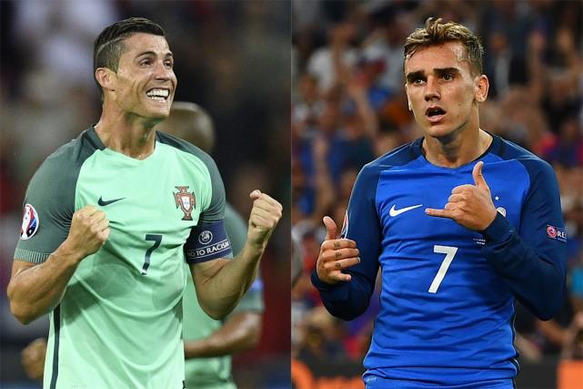 Cristiano Ronaldo a eu le dessus sur Antoine... (PHOTOS ARCHIVES AGENCE FRANCE-PRESSE)