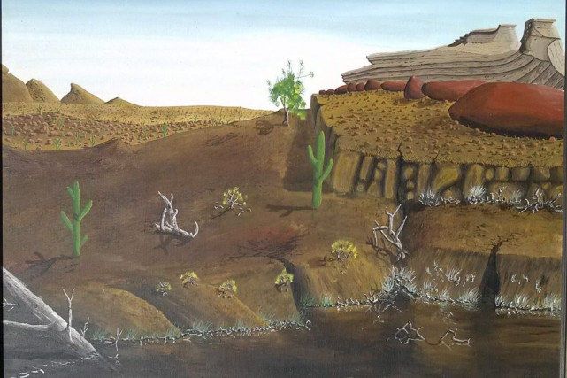 Robert Fletcher dit posséder une toile peinte par... (Archives PC)