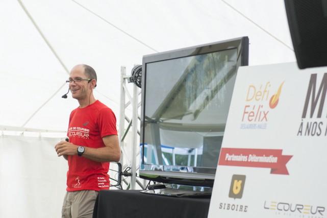 Sébastien Roulier, ultramarathonien et pédiatre intensiviste au CIUSSS... (Spectre média, Julien Chamberland)