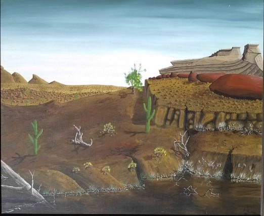 C'est cette oeuvre, présumément peinte par Peter Doig... (La Presse Canadienne)